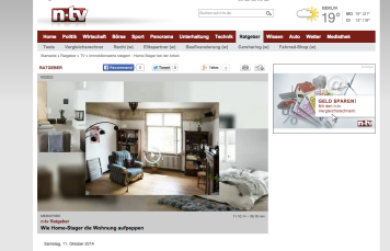 n-tv news coverage: Home Staging